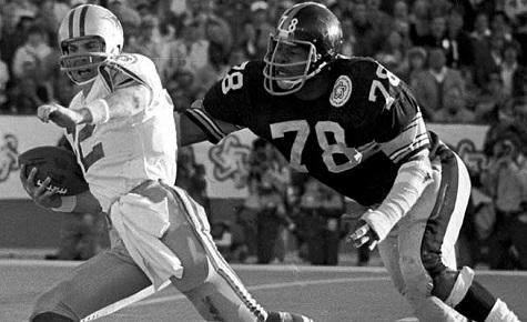 Dwight White, Roger Staubach, Super Bowl X, Steelers vs Cowboys
