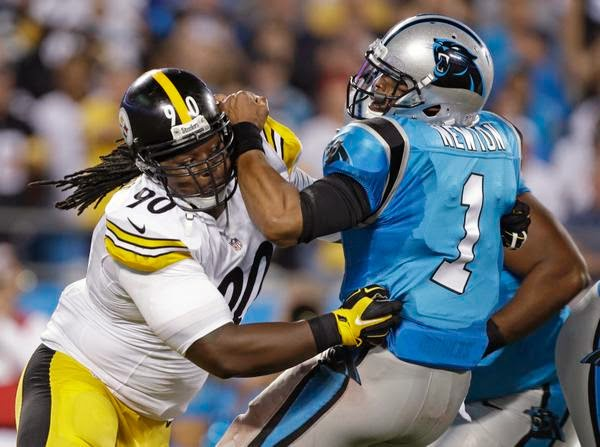 steve mclendon cam newton steelers vs. panthers