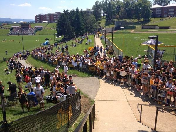 steelers training camp st. vincent's latrobe
