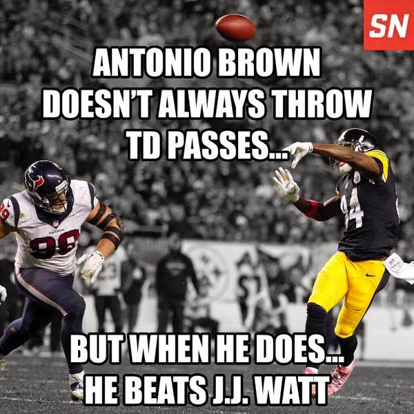 Steelers, Antonio Brown, Touchdown Pass, Texans, Red Zone
