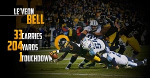 Le'Veon Bell, Titans, 200 yards, Steelers