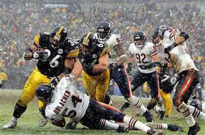 Jerome Bettis, Brian Urlacher, Steelers vs. Bears, Bettis vs. Urlacher,