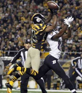 Ike Taylor, Steelers, Ravens, interception, Joe Flacco