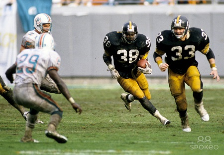 Tim Worley, Merril Hoge, 1989 Steelers Dolphins, Steelers vs. Dolphins