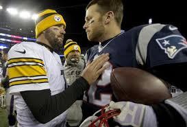Ben Roethlisberger, Tom Brady, handshake
