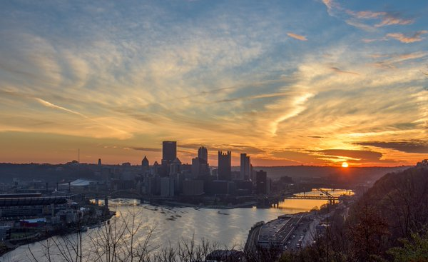 pittsburgh, skyline, thanksgiving, 2015, dave dicello, steelers understudies