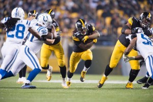 steelers en español, deangelo williams, steelers, colts