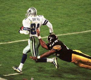 Larry Brown, John L. Williams, Steelers vs Cowboys, Larry Brown interception Super Bowl XXX, Larry Brown pick six Super Bowl XXX