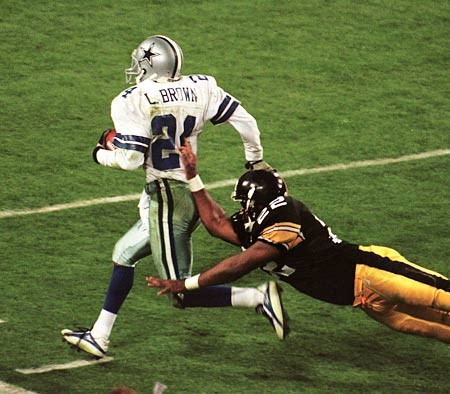 Larry Brown, John L. Williams, Steelers vs Cowboys, Larry Brown interception Super Bowl XXX, Larry Brown pick six Super Bowl XXX
