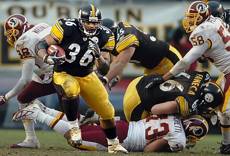 Jerome Bettis, Steelers vs Redskins, Jerome Bettis Redskins