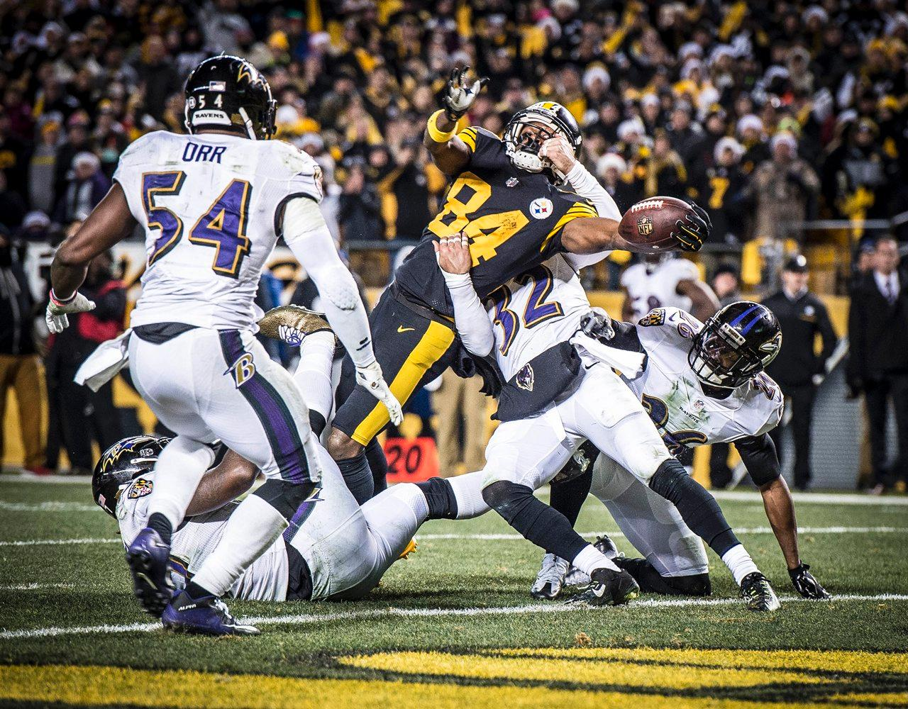 antonio brown, steelers christmas win over ravens, steelers vs. ravens