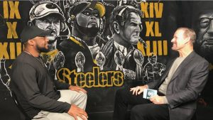 Bill Cowher, Mike Tomlin, Chuck Noll, Steelers Six Lombardi Trophies, Mike Tomlin Bill Cowher photo