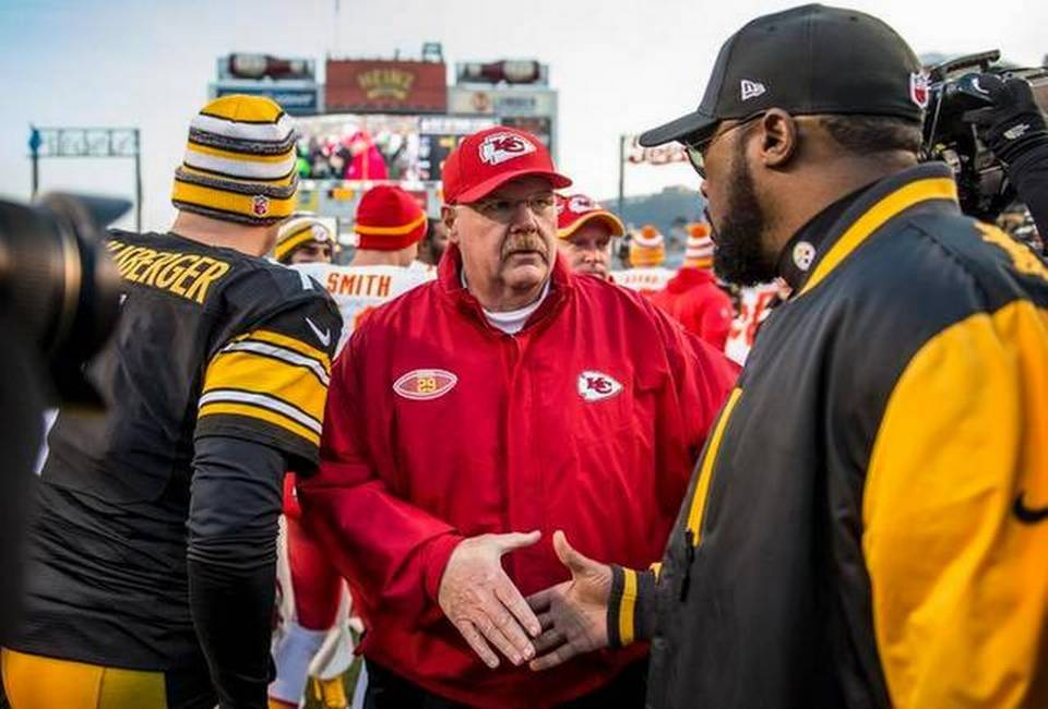 Mike Tomlin, Andy Reid, Ben Roethlisberger, Steelers vs. Chiefs, Mike Tomlin's record vs Andy Reid