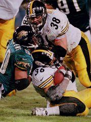 Jon Witman, steelers running back jon witman, Jerome Bettis, Steelers vs Jaguars 1990's