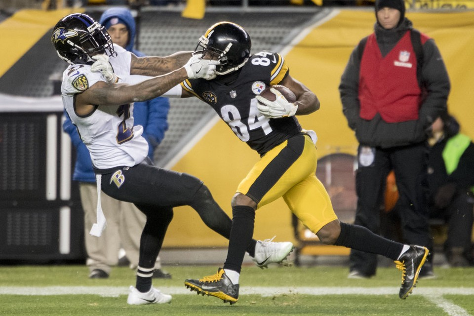 Steelers vs Ravens, Antonio Brown, Tony Jefferson