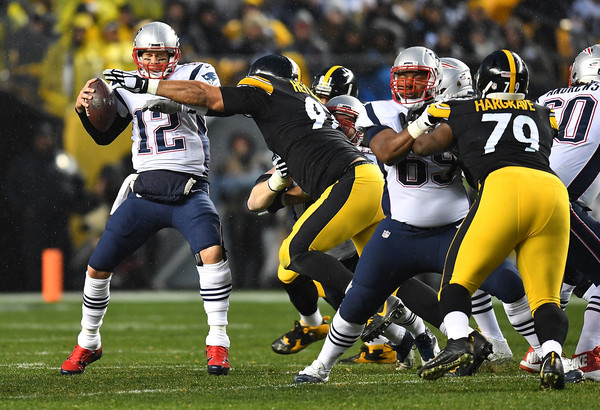 Cam Heyward sacks Tom Brady, Cam Heyward, Cameron Heyward, Tom Brady, Steelers vs Patriots, Javon Hargrave