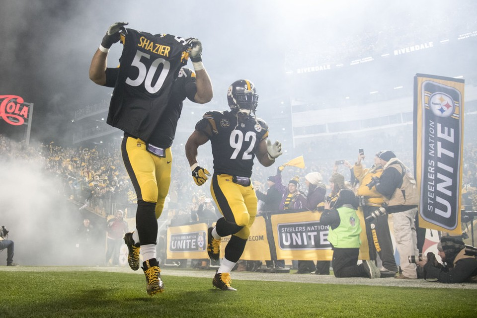 Steelers vs Ravens, Cam Heyward, Cameron Heyward, James Harrison, #Shalieve50