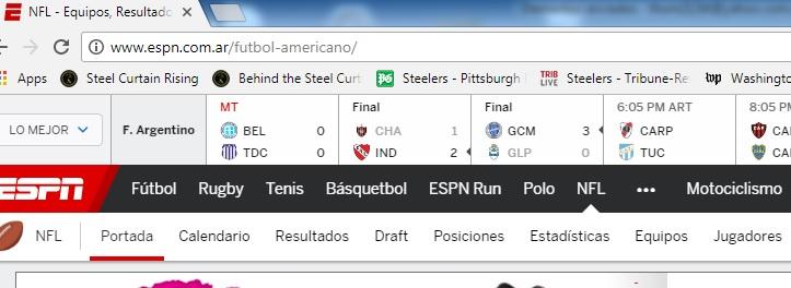 ESPN.com in English in Latin America, Access ESPN.com in English in Latin America, ESPN.com in English Argentina