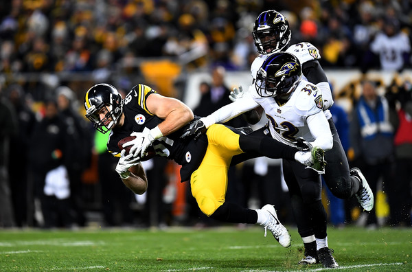 Jesse James, Eric Weddle, Steelers vs Ravens, Steelers tight ends ravens