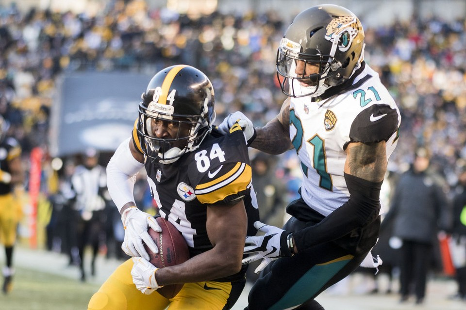 Antonio Brown, Steelers vs Jaguars, Steelers Jaguars playoffs, A.J. Bouye