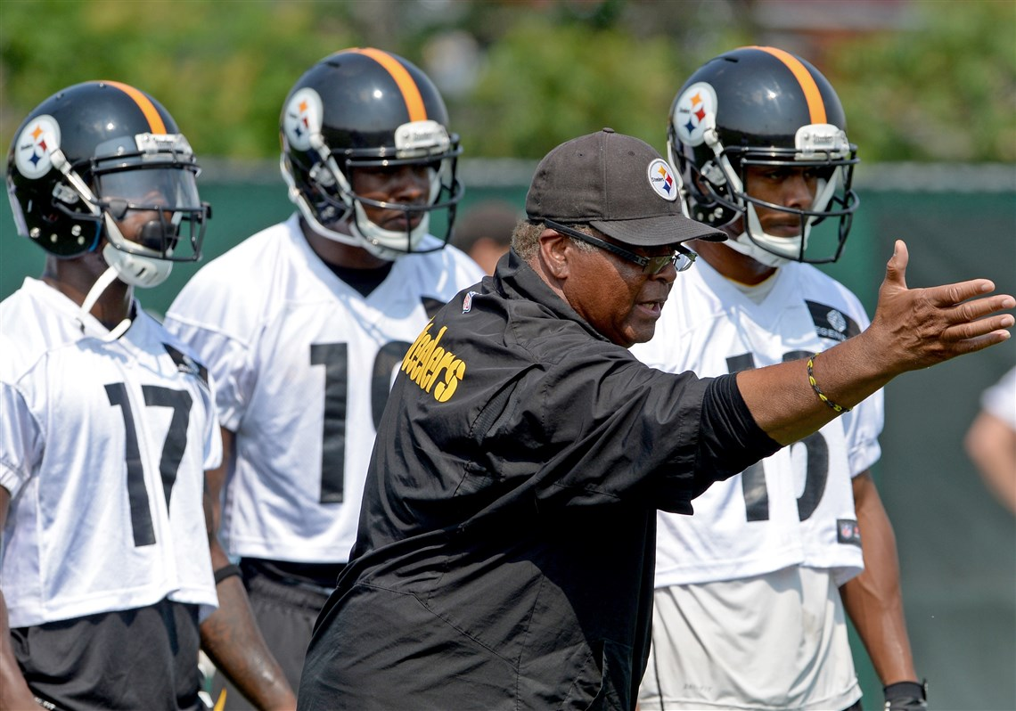 Richard Mann, Steelers wide receivers coach richard mann