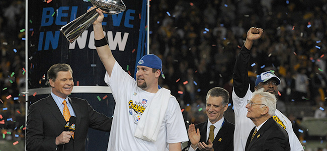 Super Bowl XLIII, Super Bowl XLIII trophy, Super Bowl 43, Ben Roethlisberger, Santonio Holmes