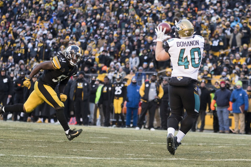 Tommy Bohanon, Sean Spence, Steelers vs Jaguars, Steelers Jaguars Playoffs