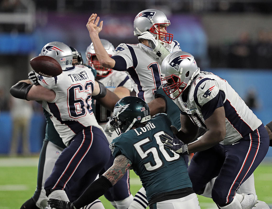 Tom Brady, Brandon Graham, Super Bowl LII