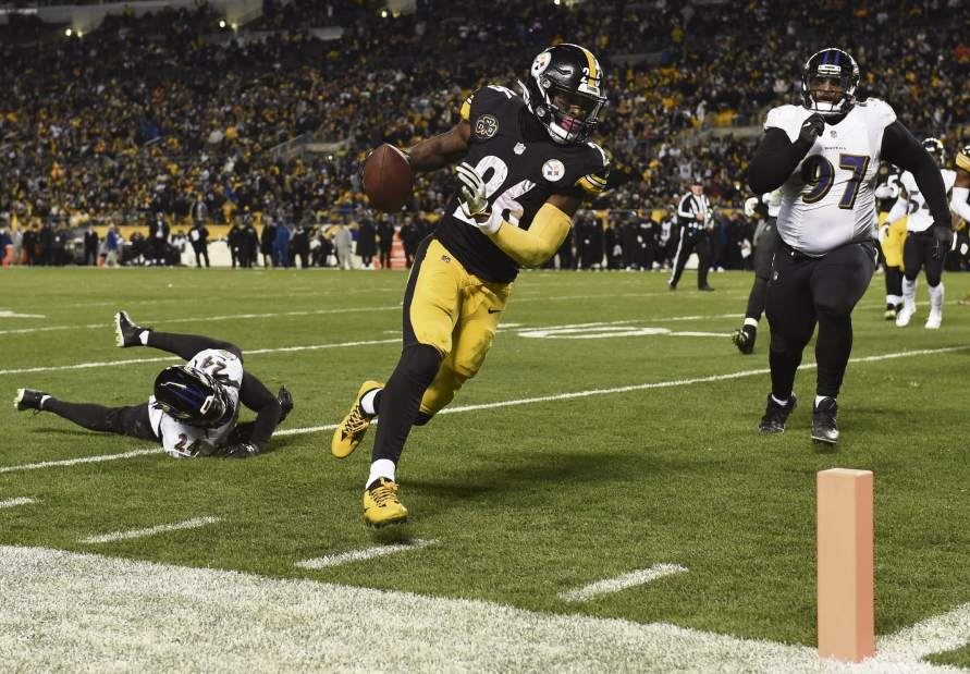 Le'Veon Bell, Brandon Carr, Steelers vs Ravens,