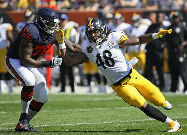 Bud Dupree, Bobbie Massie, Steelers vs Bears