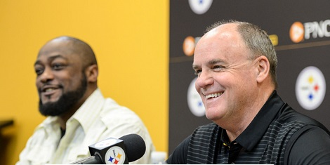 Mike Tomlin, Kevin Colbert, 2018 Draft, press conference