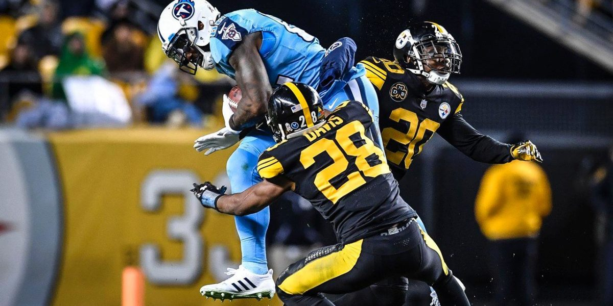 Sean Davis, Robert Golden, Steelers vs Titans