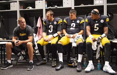 Ben Roethlisberger, Landry Jones, Mason Rudolph, Joshua Dobbs, Steelers 4 quarterbacks