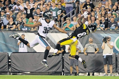 Damoun Patterson, Damoun Patterson preseason touchdown, Rasul Douglas, Steelers vs Eagles Preseason
