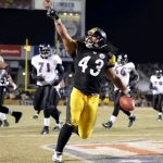 Troy Polamalu, Troy Polamalu Interception Ravens, Troy Polamalu Interception AFC Championship Game, Troy Polamalu pick six AFC Championship