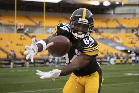 Antonio Brown, Heinz Field, pregame warm ups