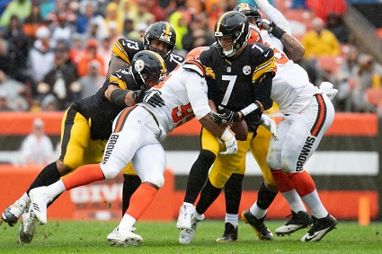 Ben Roethlisberger, Myles Garret, Steelers vs Browns, Steelers Browns tie