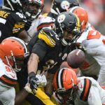 James Conner, Steelers vs Browns, James Conner Fumble