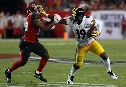 JuJu Smith-Schuster, M.J. Stewart, Steelers vs Buchaneers, Steelers MNF win Buccaneers