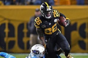 Le'Veon Bell, Le'Veon Bell ball security, Le'Veon Bell fumble, Steelers vs Titans