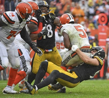 T.J. Watt, Tyrod Taylor, Bud Dupree, Steelers vs Browns