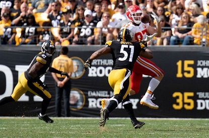 Travis Kelce, Jon Bostic, Sean Davis, Steelers vs Chiefs