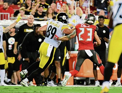 Vance McDonald, Chris Conte, Vance McDonald stiff arm Chris Conte, Steelers va Buccaneers