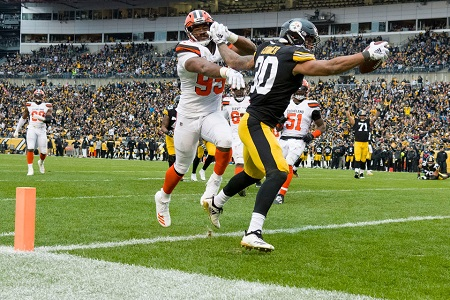 James Conner, Myles Garrett, Steelers vs. Browns
