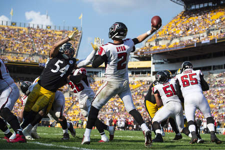 L.J. Fort, Matt Ryan, Steelers vs Falcons