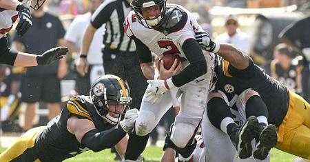 T.J. Watt, Cameron Heyward, Matt Ryan, Steelers vs Falcons