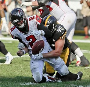 T.J. Watt, Matt Ryan, T.J. Watt Matt Ryan strip sack, Steelers vs Falcons