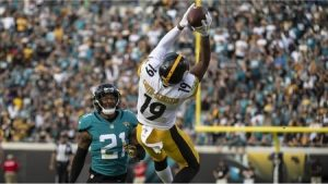 JuJu Smith-Schuster, A.J. Bouye, Steelers vs Jaguars