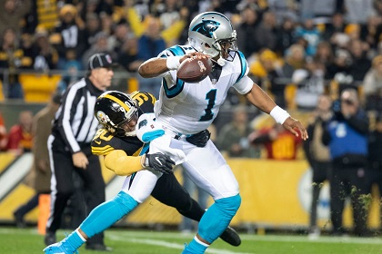 T.J. Watt, Cam Newton, Vince Williams pick six, Steelers vs Panthers