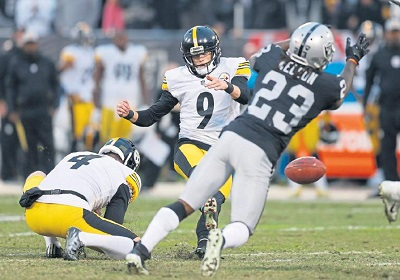Chris Boswell, Nick Nelson, Steelers vs Raiders